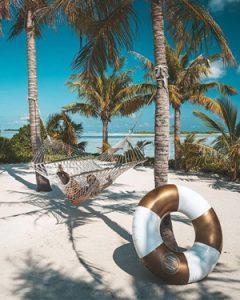 zwemband wit goud sunnylife