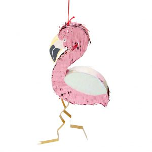 flamingo pinata snoep candykids slaan