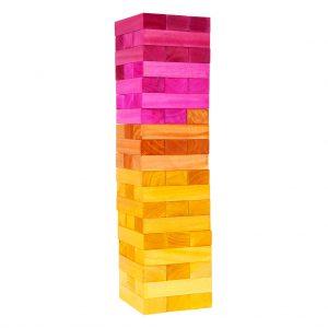 regenboog jenga spel