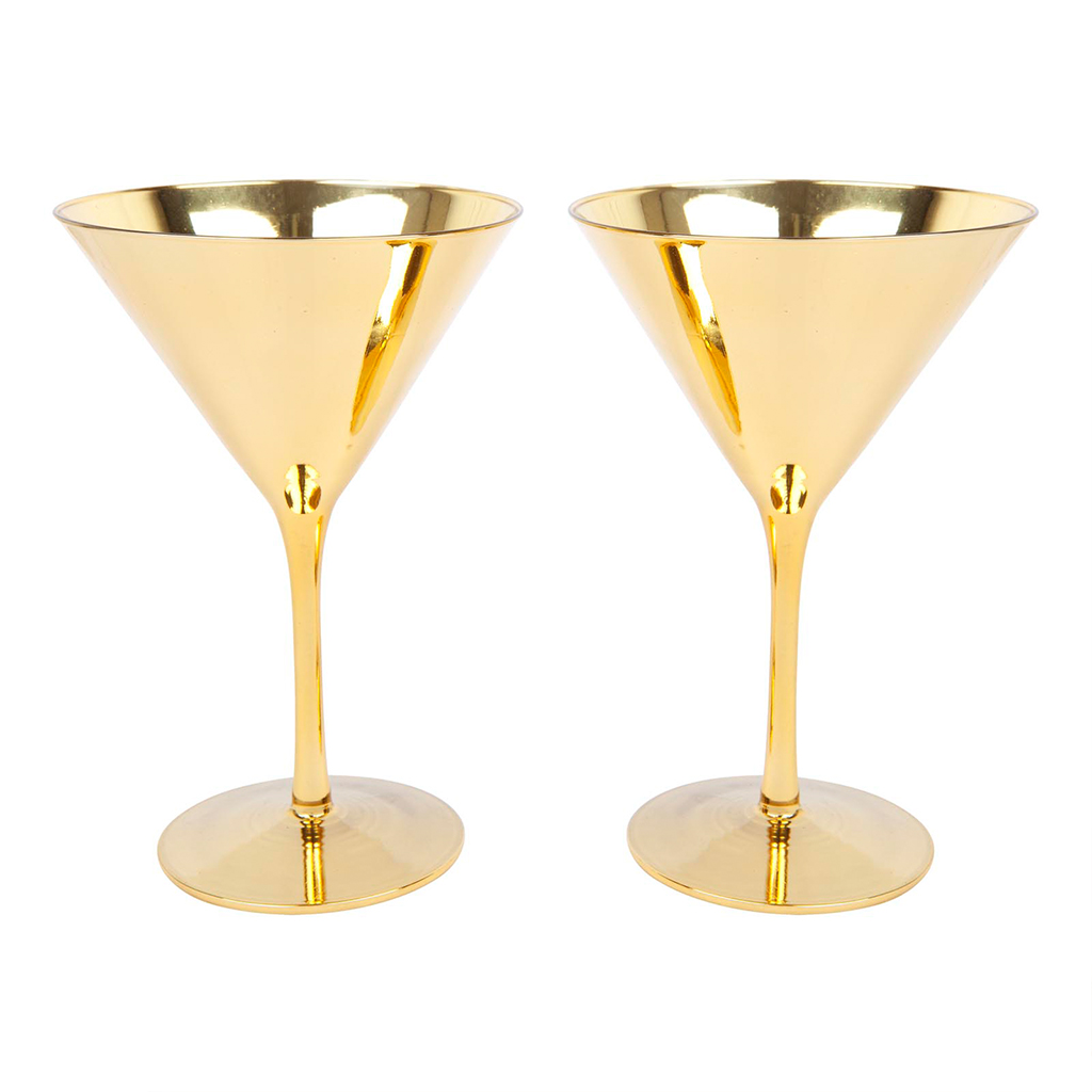 goud party cocktail glas martini