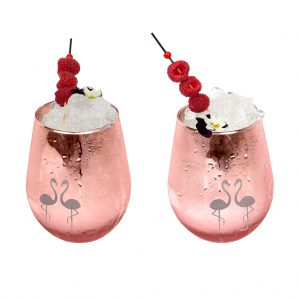 flamingo cocktail glas framboos
