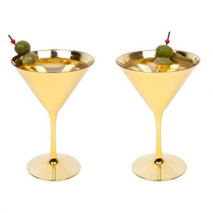 martini cocktail glas party goud gold party