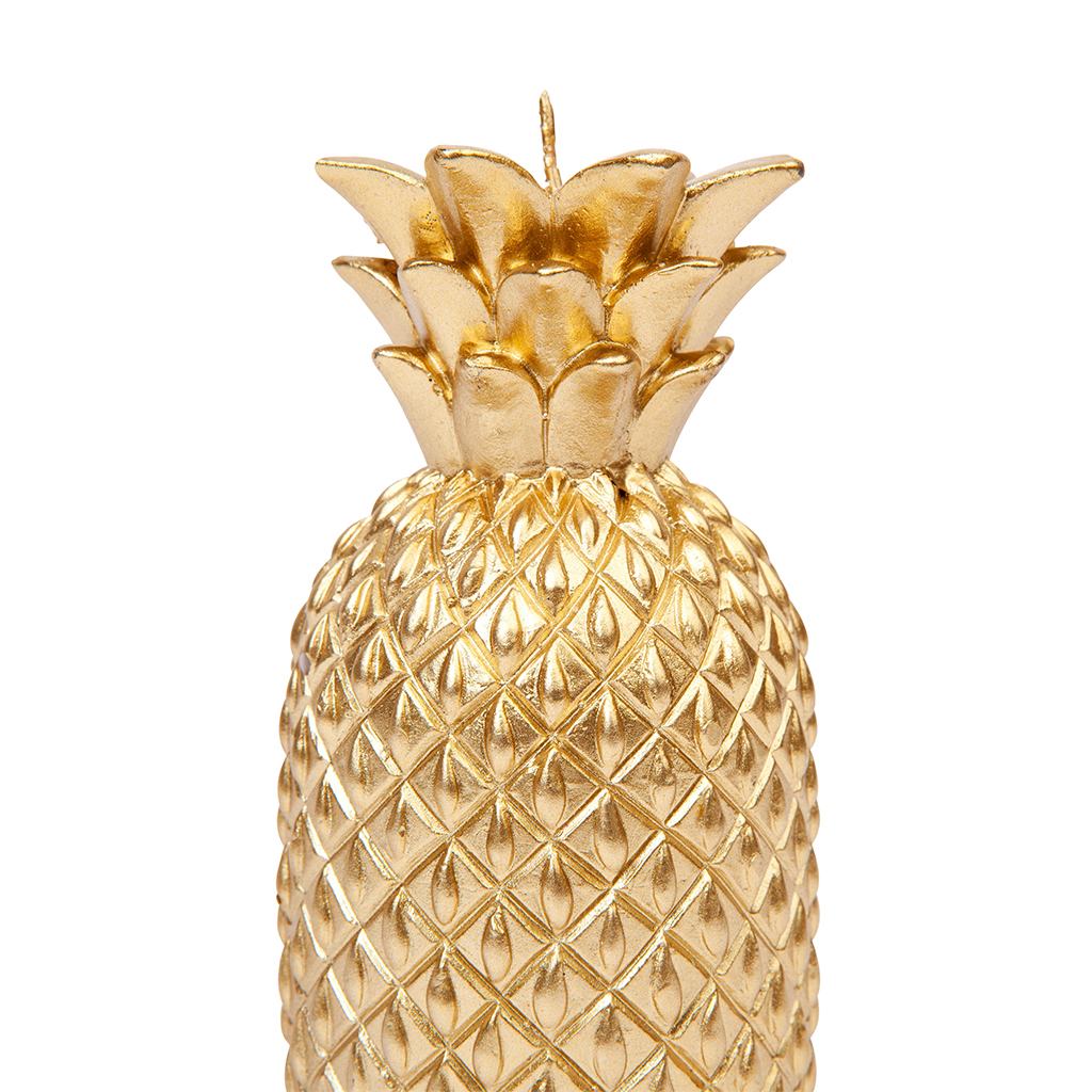 kaars ananas goud gold keukenaccesoire kamer