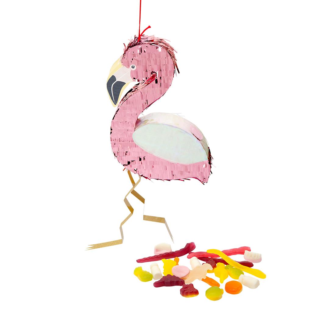 snoep met flamingo meisjes pinata kinder feestje