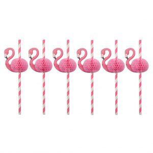 rietjes flamingo set van 12 feestje
