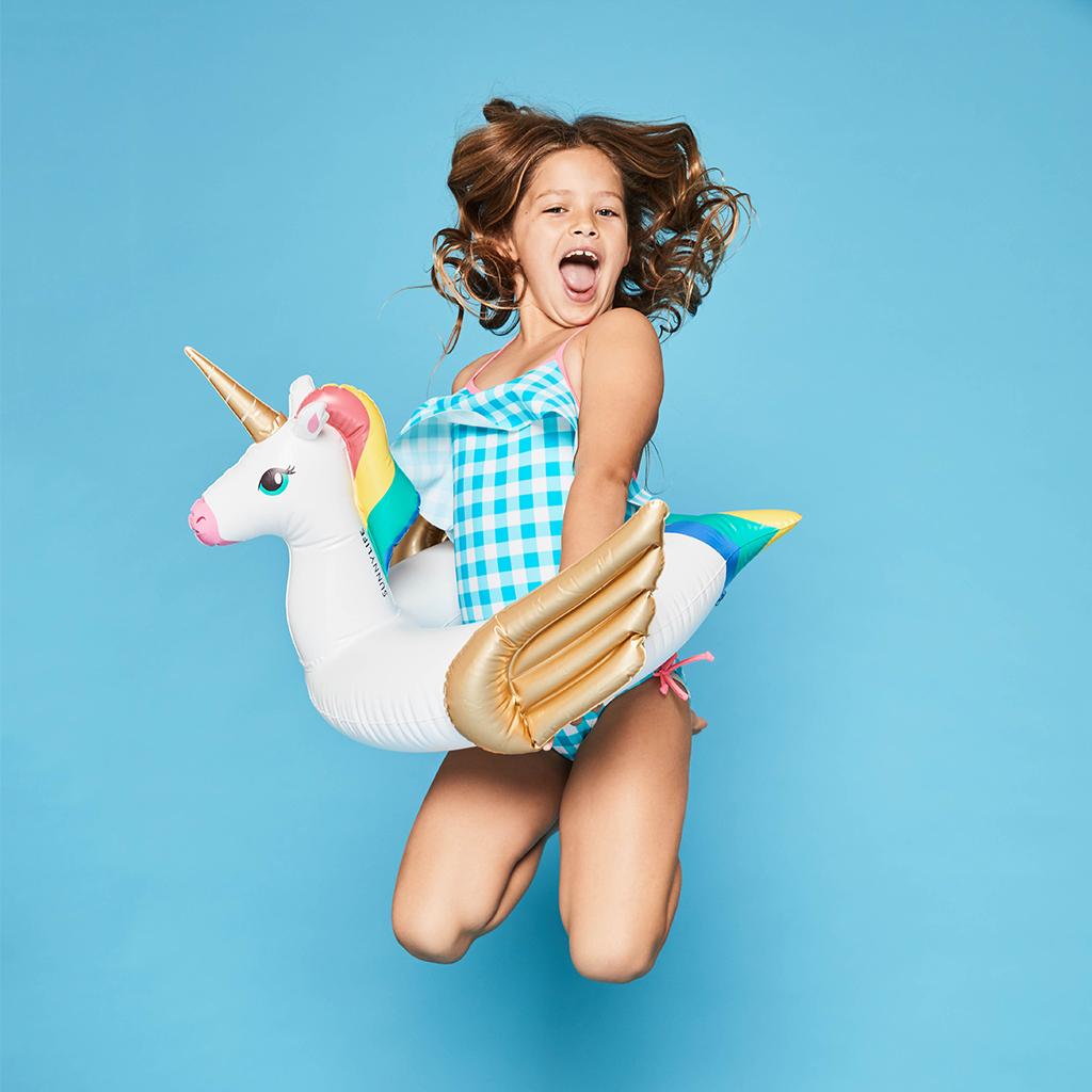 springen met eenhoorn unicorn zwemband