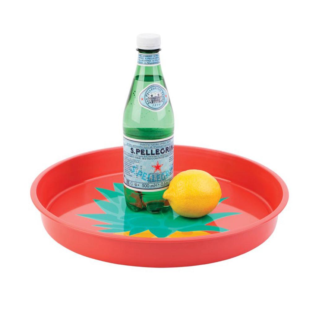 rood ananas dienblad serveren lemon citroen water