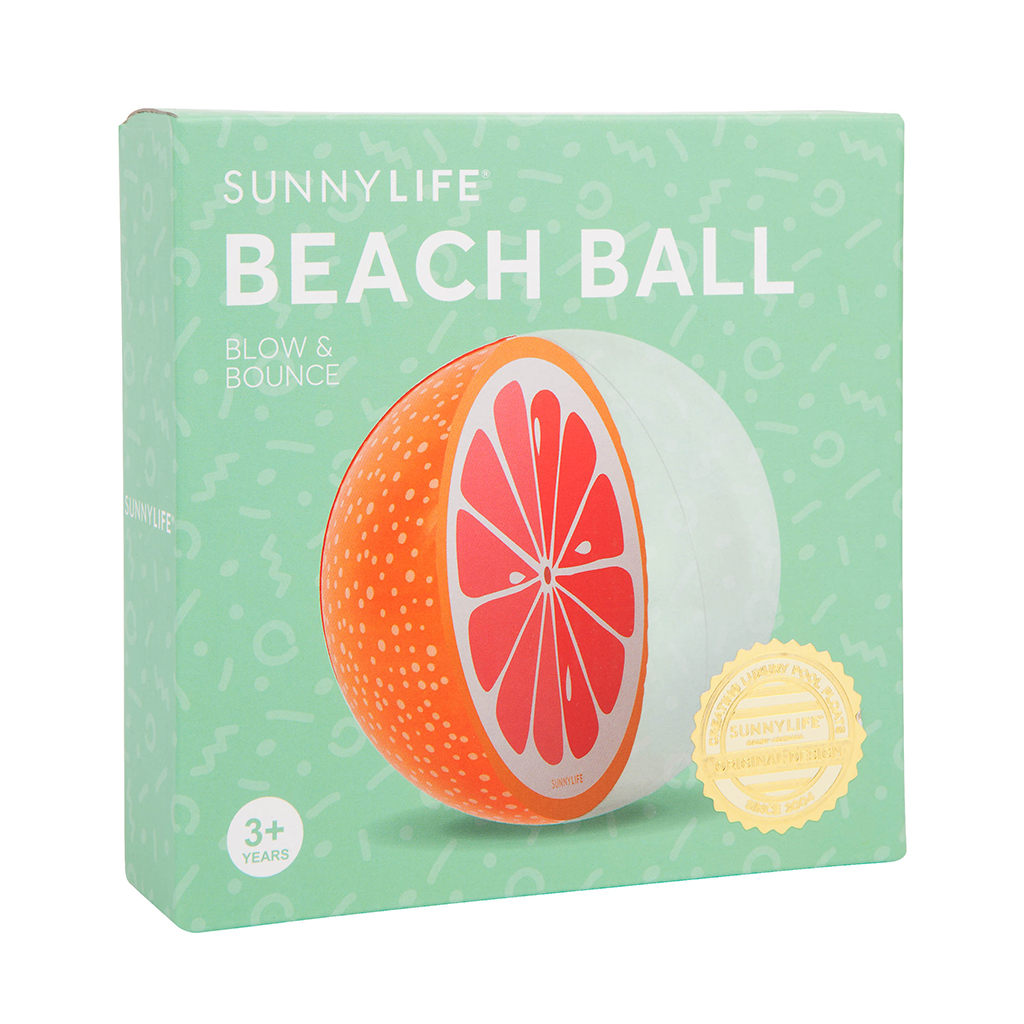doos verpakking traan beach ball grapefruit fruit grape