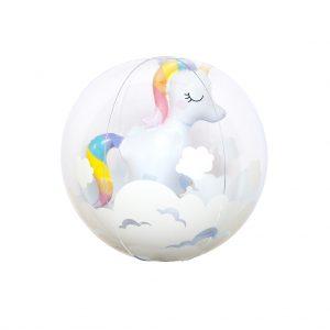 Unicorn ball eenhoorn strand ball 3d