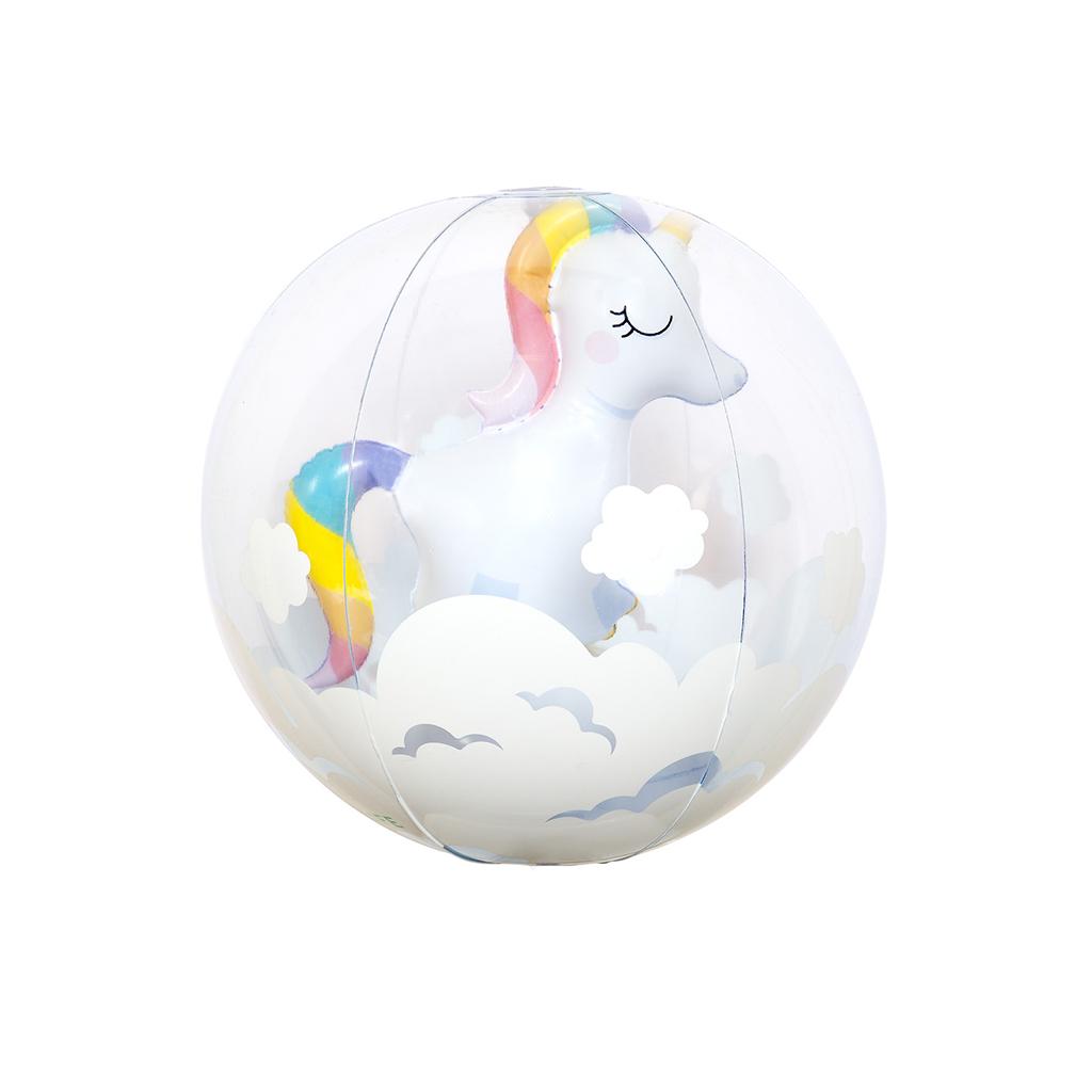 Opblaasbare Unicorn 3D Strandbal Sunnylife