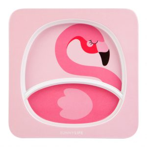 flamingo roze piekbordje meisjes kids peuter kleuter eten