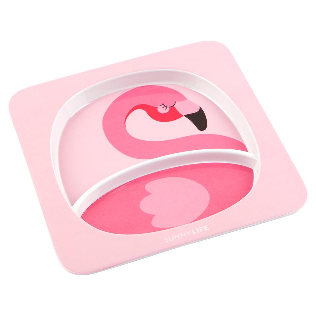flamingo bordje 2 kanten eten peuter baby kleuter kids kinderne