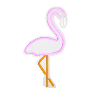 flamingo neon wall muur ligt lamp decoratie leuk mooi girl meisje