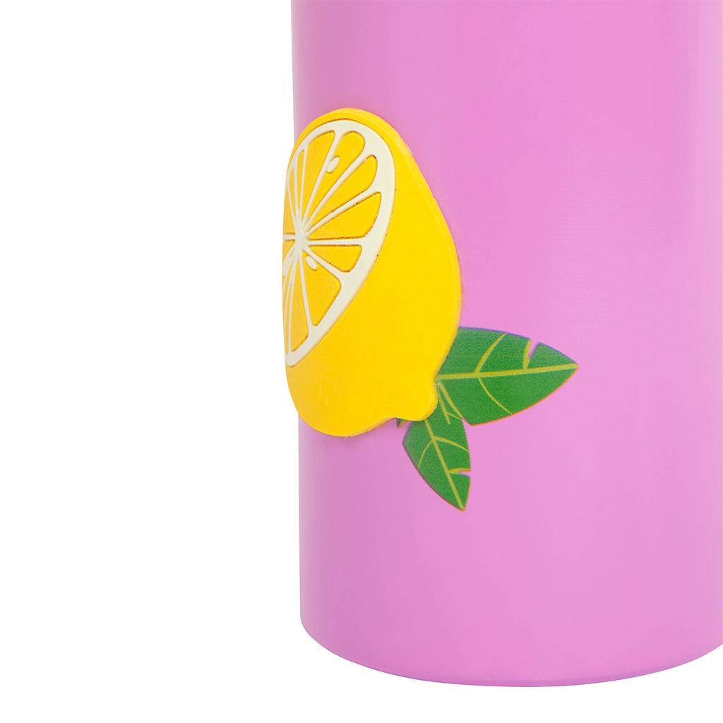 fles thermosfles thermoskan heet houden lemon roze
