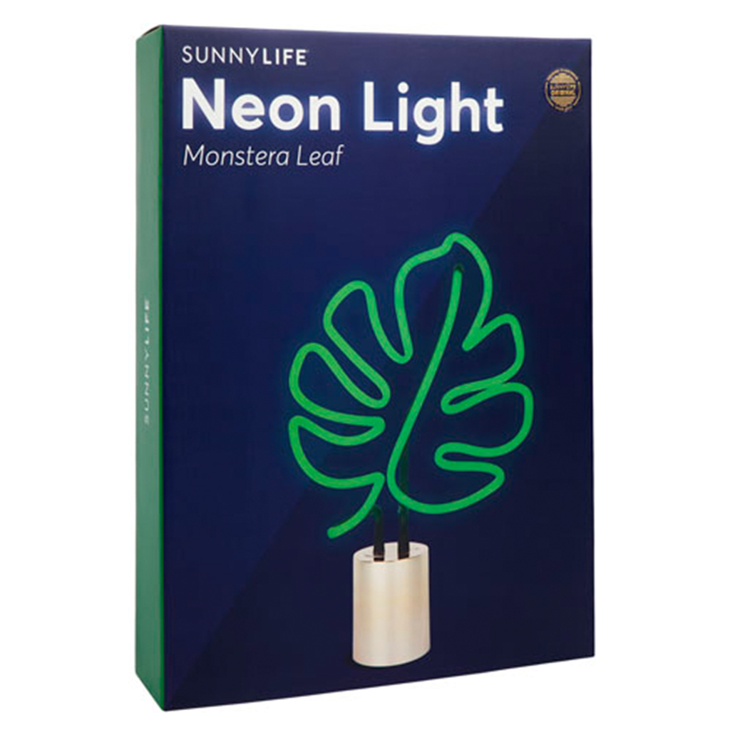 verpakking neon lamplarge leaf blaadje doos lifestyle
