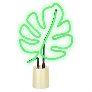 neon lamp large groot aan leaf blad blaadje plant
