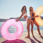 roze en oranje zwemband poolparty pool ring