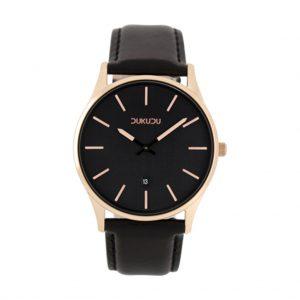 Horloge dukudu vera zwart goud