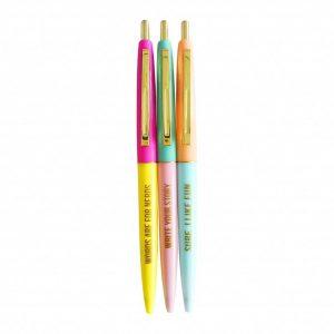 ballen set pennen pen very fun