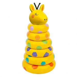 houten-giraffe-stacking-toy-sunnylife-geel