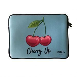 laptop sleeve hoes cherry blauw