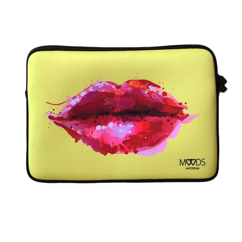 laptop sleeve hoes lippen