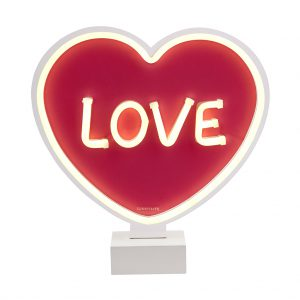 Neon led lamp love aan