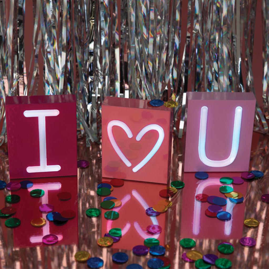 Neon mood I love u foto