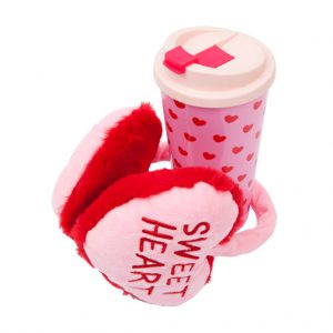 sweat heart bff oorwarmers en mug beker