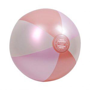 roze strandbal metallic
