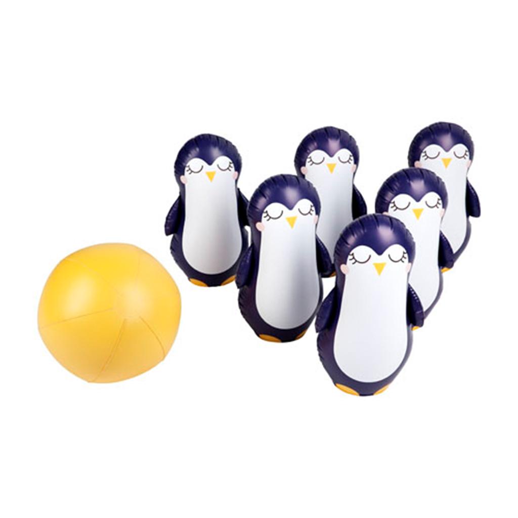 Opblaasbare Bowling Set Pinguin Sunnylife