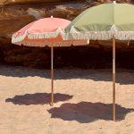 parasol groen en roze